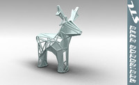 stl christmas deer 3d 3ds