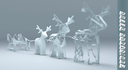 christmas reindeer 3D models