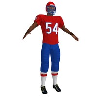 3d model football player 2
