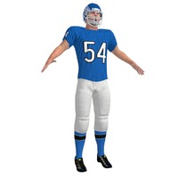 3d model football player