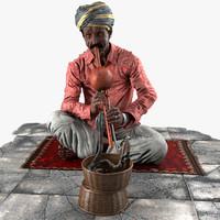 snake charmer 3d model