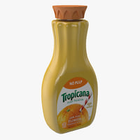 Tropicana Orange Juice Bottle