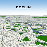3d model berlin cityscape