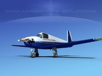 3d built mooney m-18 mite model