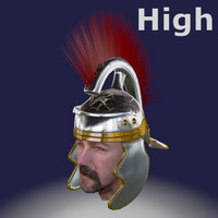 imperial roman helmet 3d model