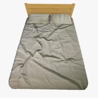modern bed 2 3d 3ds