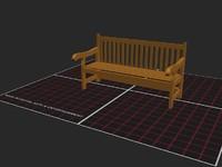3d model bench
