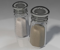 3d model salt pepper