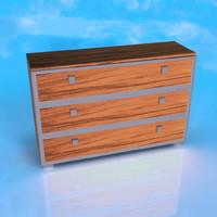 wood desk fbx