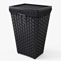laundry basket ikea knarra 3d model