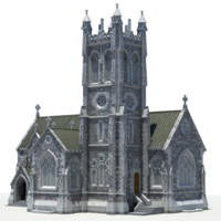 3d model mini cathedral