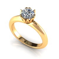 Heart Prong Diamond Ring