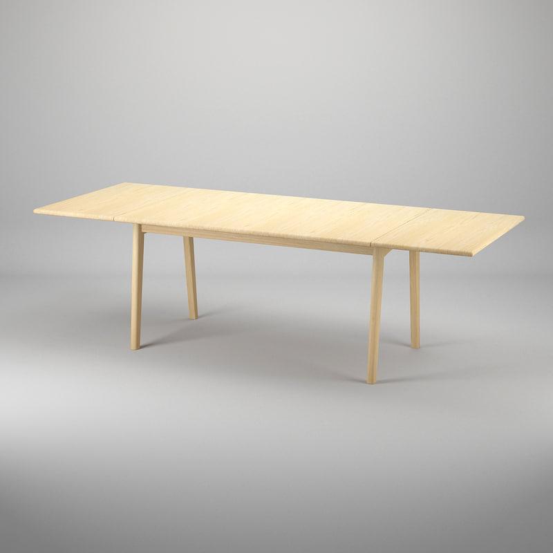 3dsmax table hans j wegner for Table quiz hannover