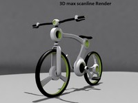 3d model futuristic bicycle