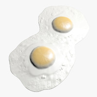 eggs fried 3d model