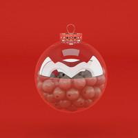 free christmas balls 3d model