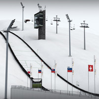 ski jumping hill 3d model