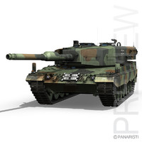 3d model leopard 2a4 battle tank
