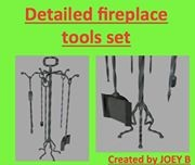 fireplace tool set dxf