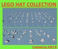 lego hat 50 3d dxf
