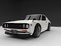 3d model 1973 nissan skyline gt-r