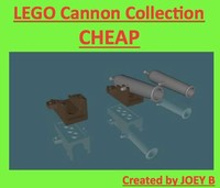 lego cannon 3d model