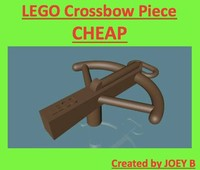 3d lego crossbow model