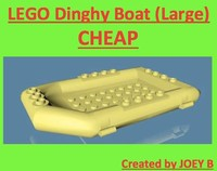 lego dinghy 3d model