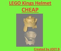 3d lego king crown model