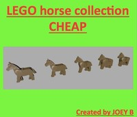 3d lego horse saddle model