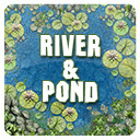 2D River & Pond Game Backgrounds Pack