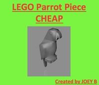 3d fbx lego parrot