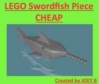 3d 3ds lego swordfish