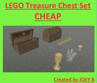 3d lego treasure chest model