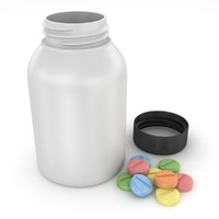 pill bottle 3d model