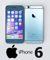 3d apple iphone 6 gray