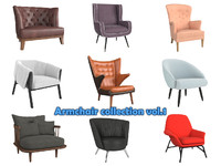 armchair vol 1 chair 3d max