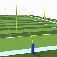 3d american football pitch