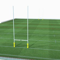3d rugby pitch