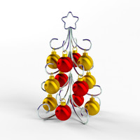 stylized christmass tree 3d 3ds