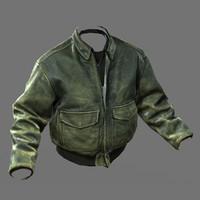 ww2 pilot jacket 3d model