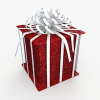 3d 3ds christmas gift present box