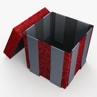 christmas gift present box obj