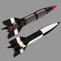 3ds mx bllistic missile -