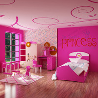 3d model of girls room