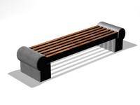 venecia bench 3d model