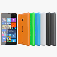 3d model of realistic microsoft lumia 535