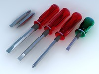 screwdriver screw 3d model