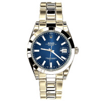 3d model rolex datejust ii blue