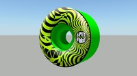 spitfire green wheels 3d model
